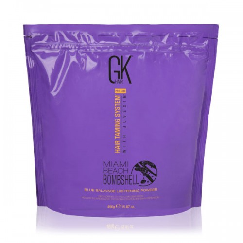 GKhair Miami Beach Bombshell Blue Balayage Lightening Powder Осветляющая пудра для балаяжу 450г